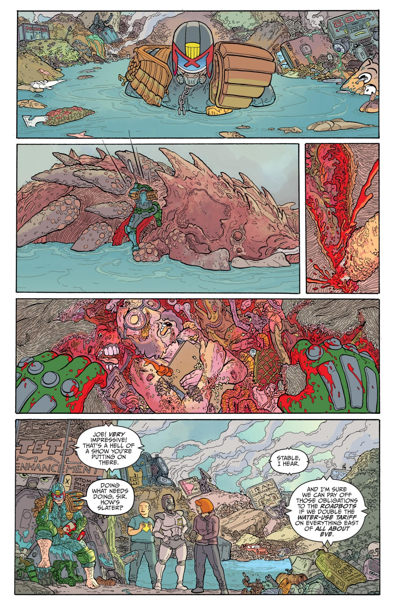 Anatomy of a Page: Ulises Farinas' Judge Dredd: Mega-City Two #3