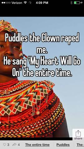 Puddles the Clown Heart Will Go On Whisper