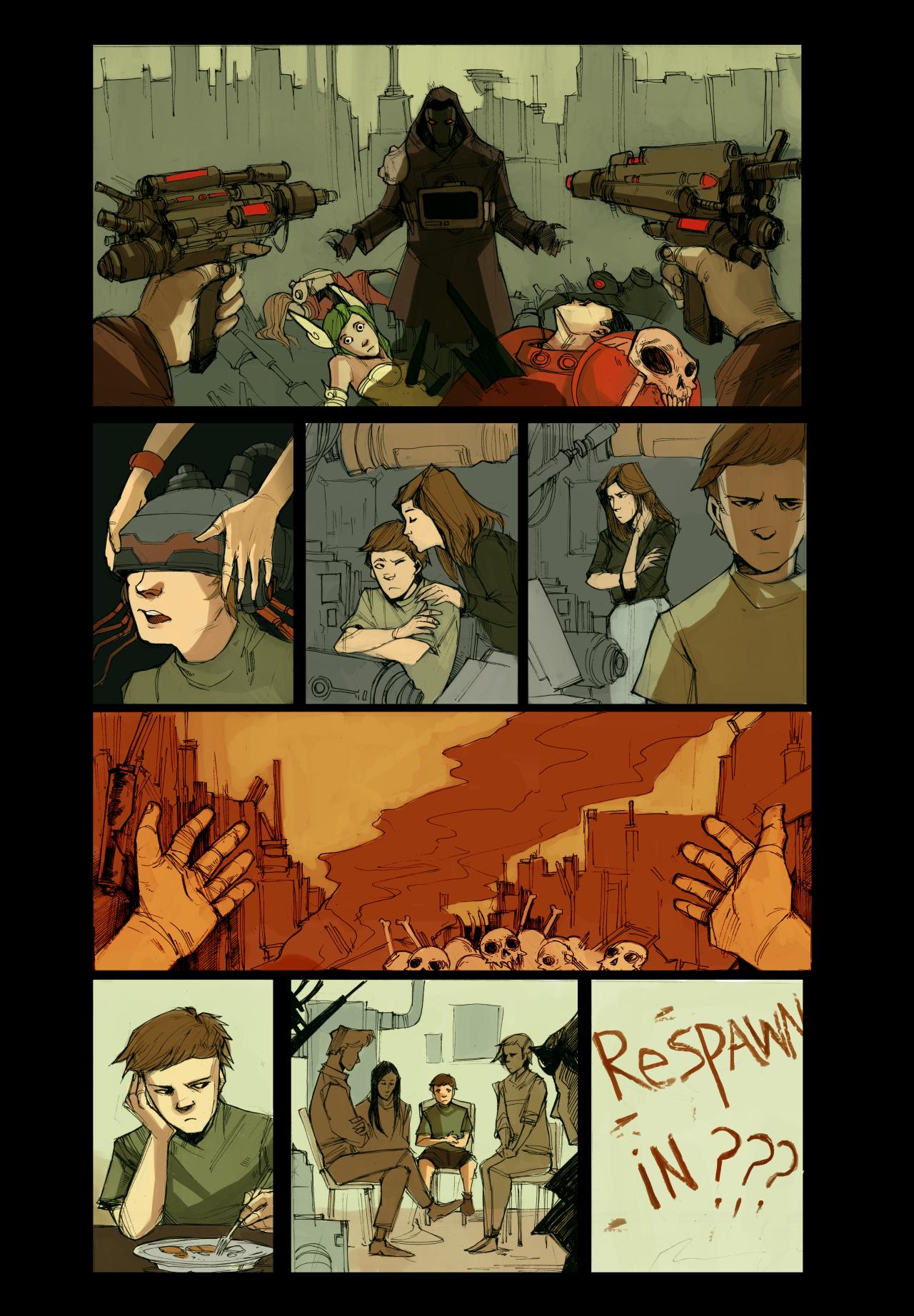 "One-Page Comic: ""A Second Life"" by Danny Djeljosevic & Diana Naneva"
