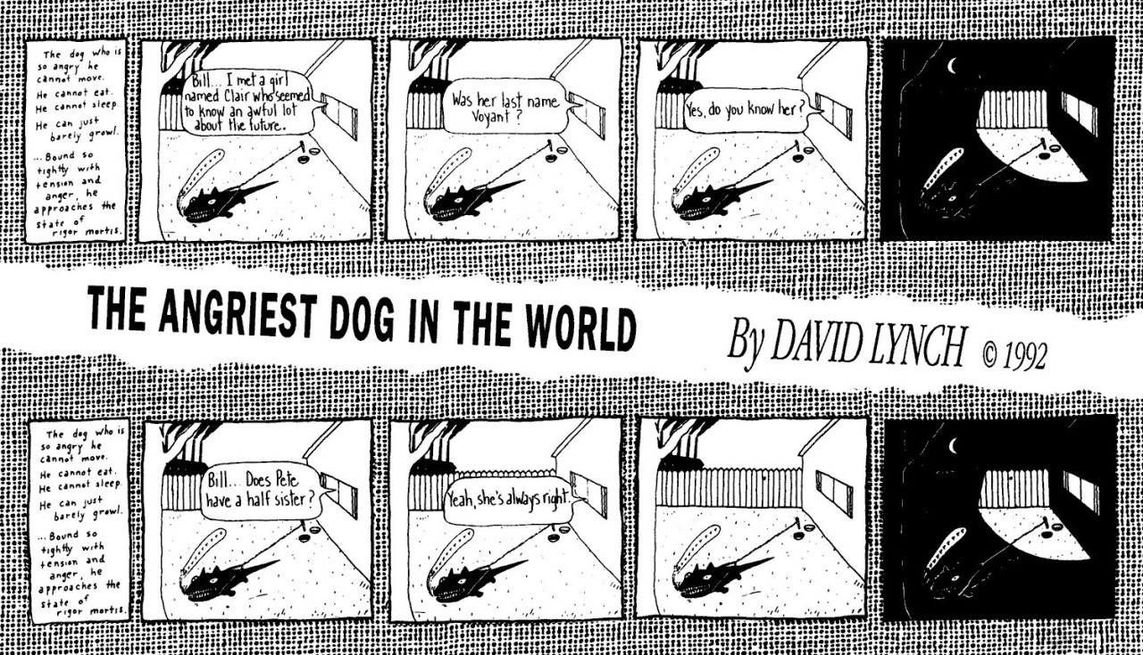 One Angry Dog and 200 Solemn Faces: Revisiting David Lynch's Forgotten Comics Career