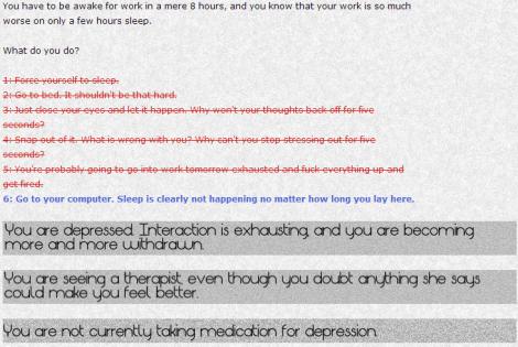 Depression Quest Zoe Quinn