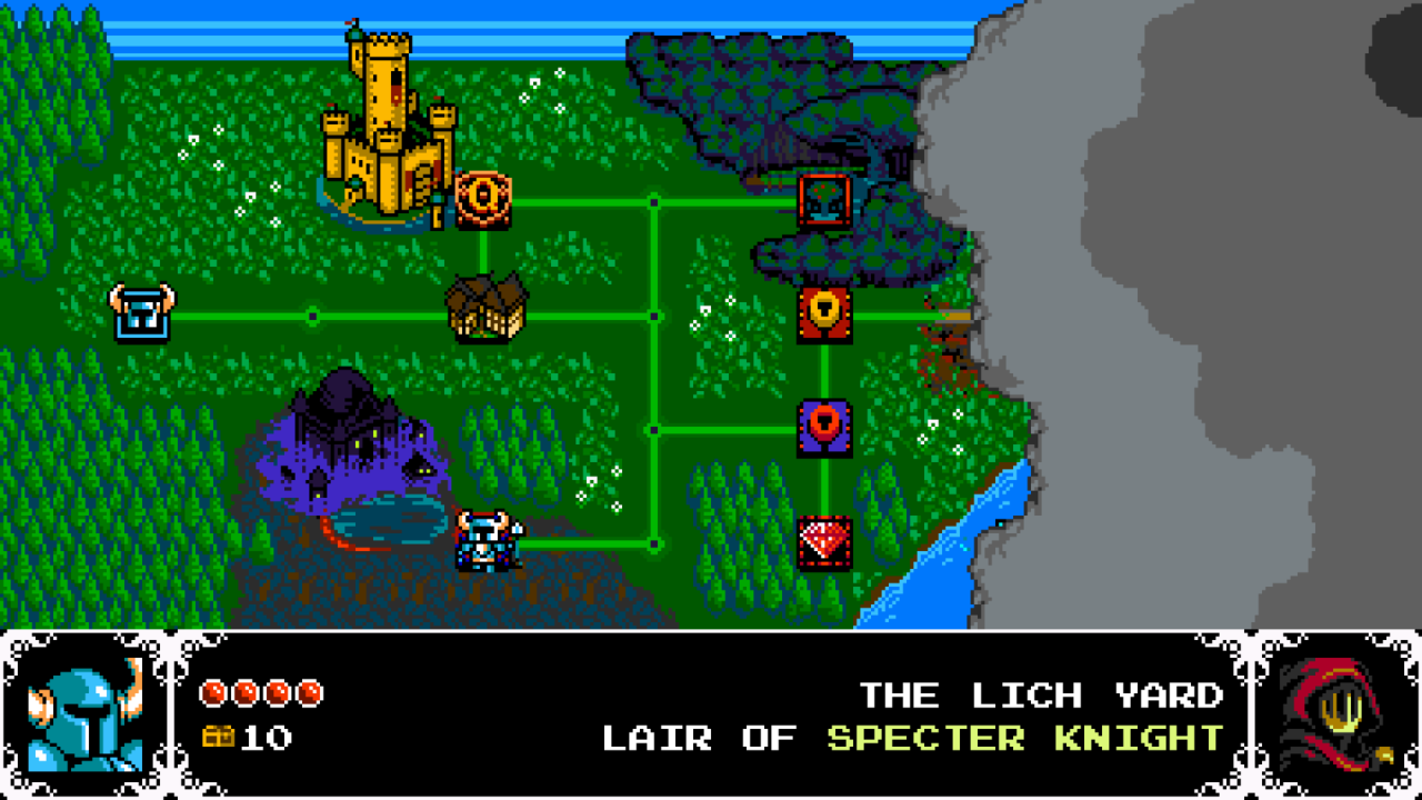 shovel knight worldmap