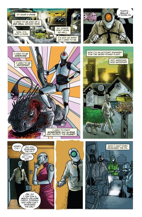 A page from Ryan Ferrier and Valentin Ramon's breakout series D4VE