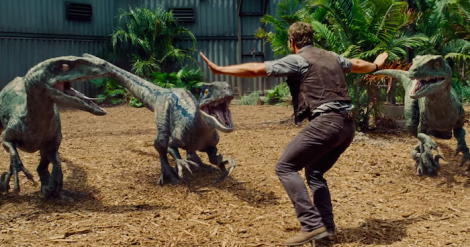 Jurassic World Chris Pratt Raptors
