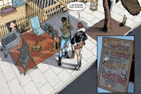 A panel from Mystery Girl, a Dark Horse series Marissa Louise is currently coloring