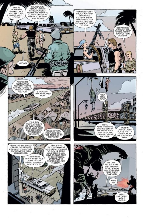 A page from Boom's Escape from New York series, colored by Marissa Louise