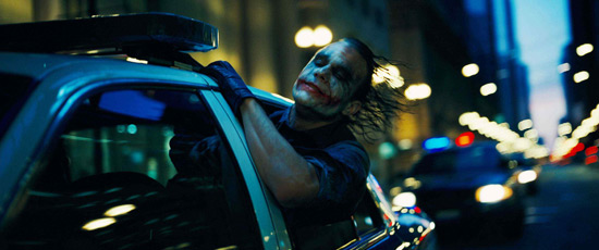 Heath Ledger - Joker - Dark Knight - Hanging out Window