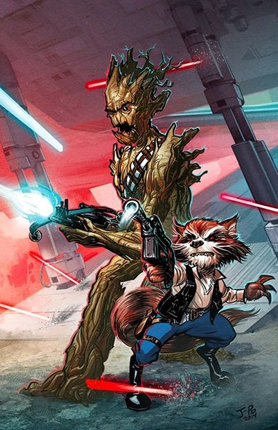 Guardians of the Galaxy Rocket Raccoon Groot Justin Ponsor