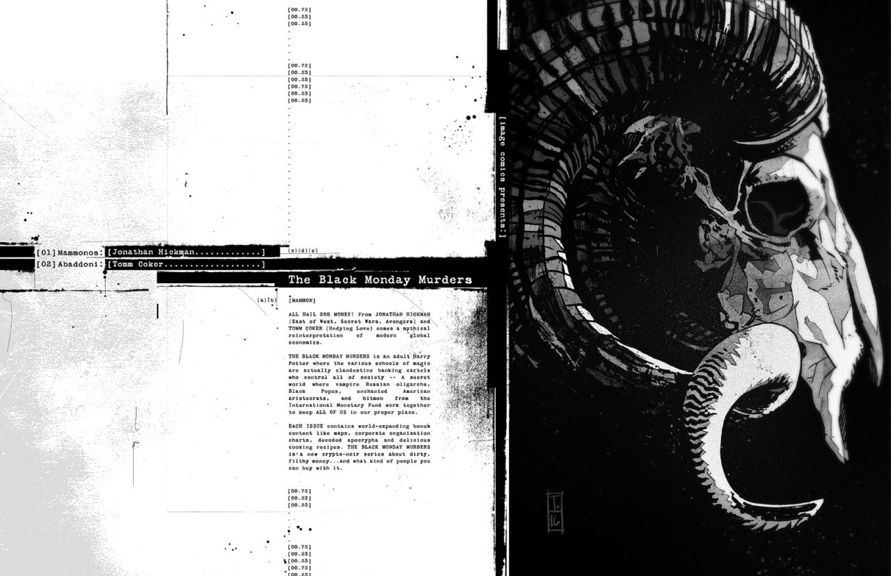 The Black Monday Murders Tomm Coker Jonathan Hickman Image Comics