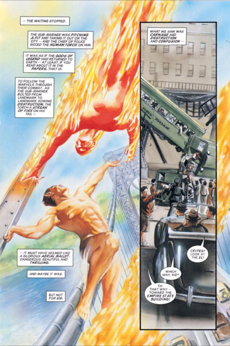 Alex Ross Marvels Human Torch Namor