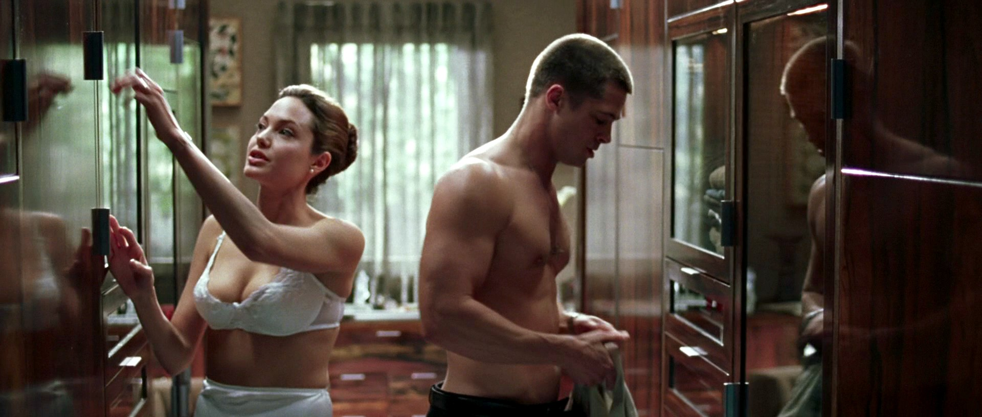 Mr And Mrs Smith Kitchen visual domination: angelina jolie's sexual power in mr and