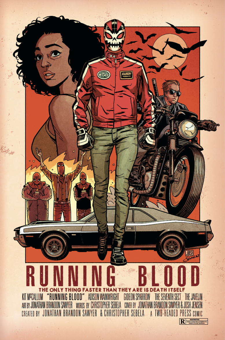 Running Blood comic cover